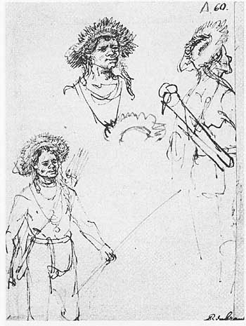 1633-rembrandt-three-studies-of-a-bowman