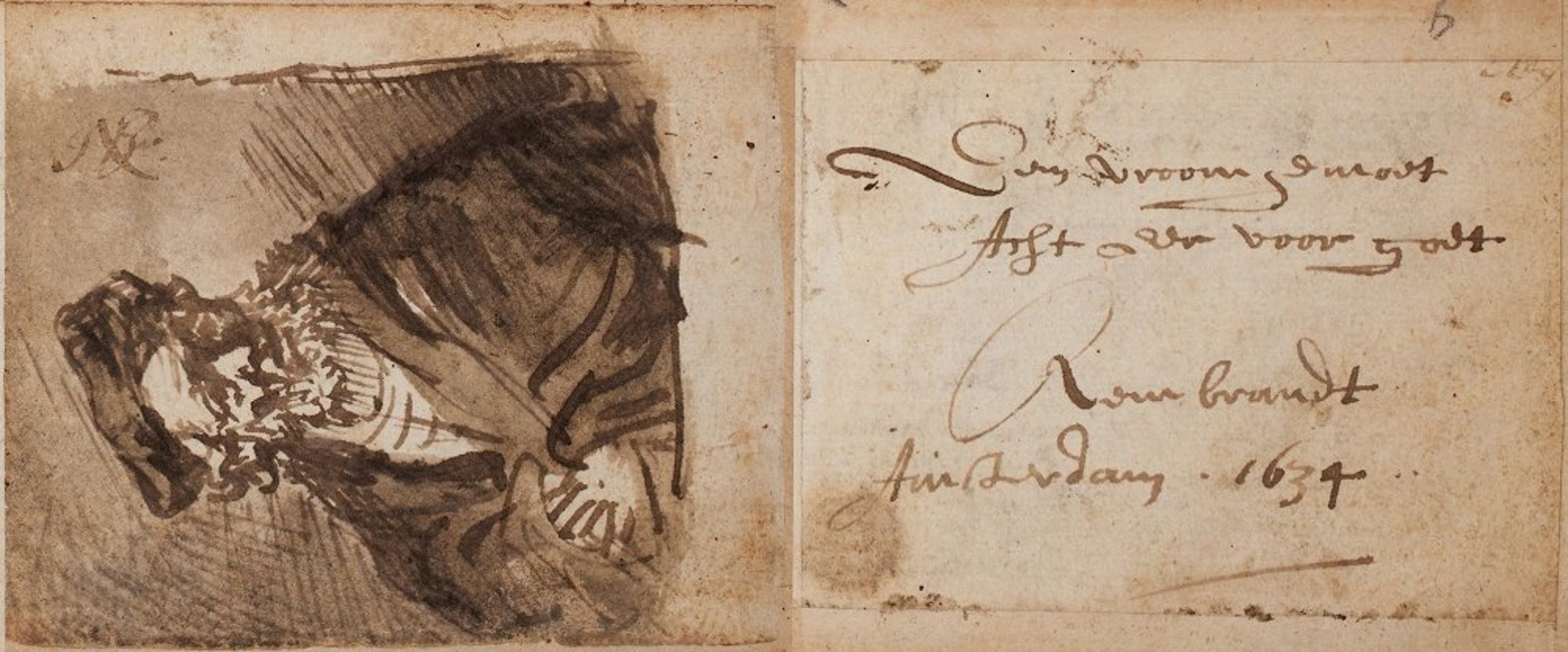 rembrandts-inscription-and-drawing-in-burchard-grossmanns-album-july-1634