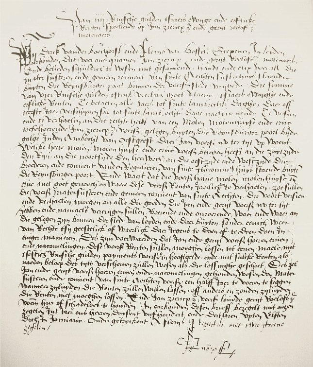 rental-agreement-for-the-mill-of-rembrandts-great-great-grandfather-geryt-roelofsz-1513